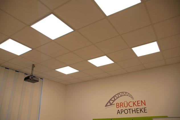 LED Panels leuchtend